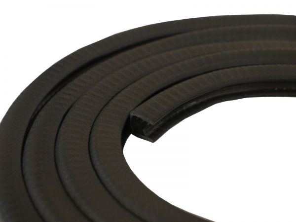 Side Window Deflectors >> 10m Black PVC Edging Strip 6-8mm Edge (W14mm x D15mm)