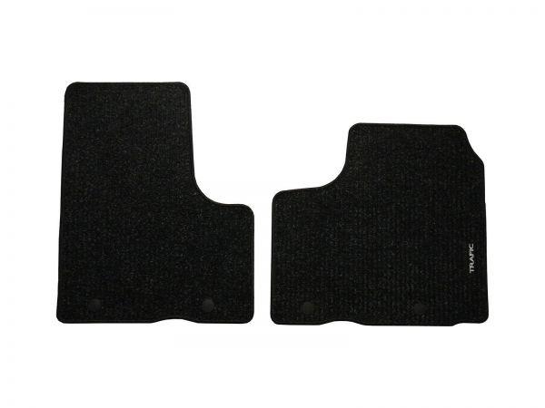 2014 on Tailored Fit Black Carpet 3pc Floor Mat for Renault Trafic Passenger