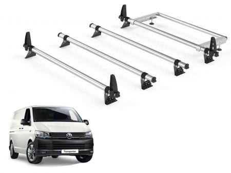 2015 on Van Guard ULTI Bar Aluminium 4 Bar Roof Rack for VW Transporter T6