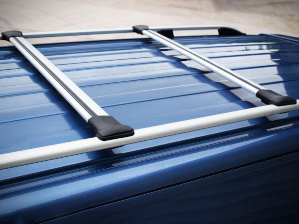 2015 on LWB Van Demon Black Aluminium Roof Rails Pair Roof Bars for VW Transporter T6