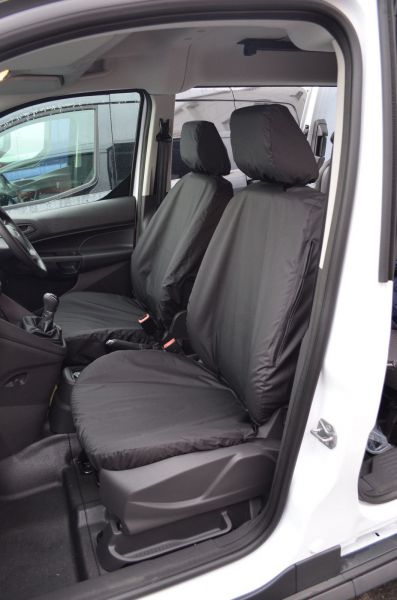 Tailored Front Black Seat Covers 1 1 Ford Transit