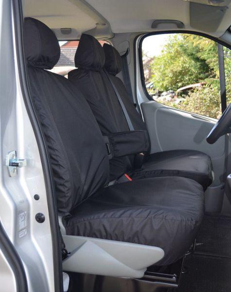 VAUXHALL VIVARO HEAVY DUTY BLACK DRIVERS VAN SEAT COVER WATERPROOF