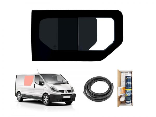 Dark Tint Right Hand Side Panel Opening Van Window for Renault Trafic 2014 on