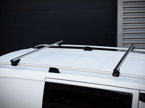 Aluminium Silver Roof Rail Roof Bar Pair Set for Mercedes Vito XLong 2014 on