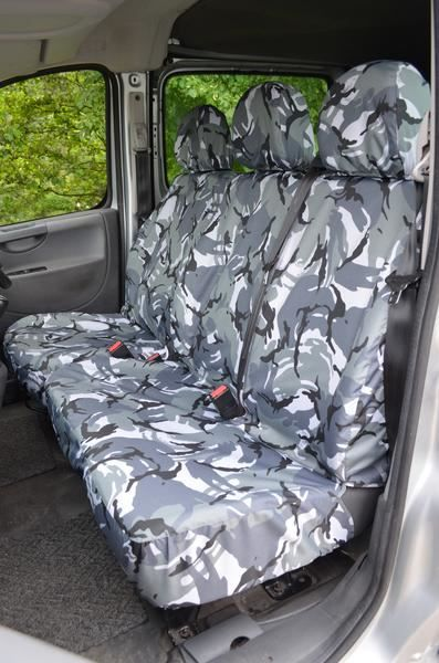 Fiat Scudo 2007-2016 Tailored /& Waterproof Grey Camouflage Seat Covers UK Made