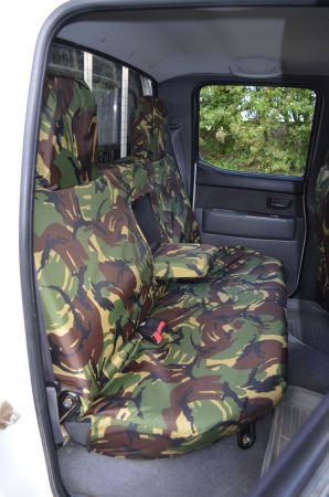 Grey Camo Tailored Waterproof Front Rear Seat Covers Ford Ranger Dbl Cab 2012