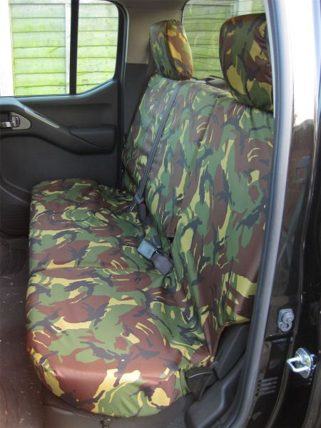 Tailored Front /& Rear Black Seat Covers Fits Nissan Navara Double Cab 2005-2016