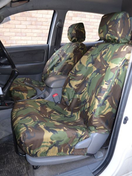Enjoyable Green Camo Seat Covers Set For Toyota Hilux 05 16 Double Cab Short Links Chair Design For Home Short Linksinfo