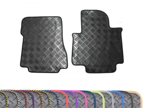 5mm Rubber 2pc Floor Mats Colour Edge Trim for Nissan NV200