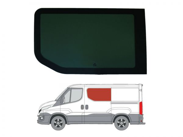 Lh Sliding Door Dark Tint Fixed Window For Iveco Daily 2014 On