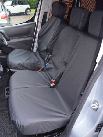 Van Demon Tailored Fit Grey Camo Driver and Double Front Passenger Seat Covers VY60618
