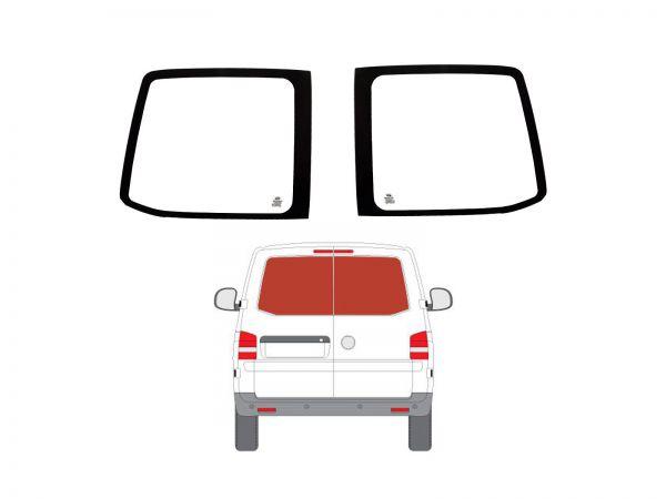 Rear Barn Door Dark Tint Windows Pair Van Glass for VW Transporter T5 03-15