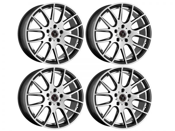Wolfrace Munich 2 Gloss Black Polished Alloy Wheels For Renault
