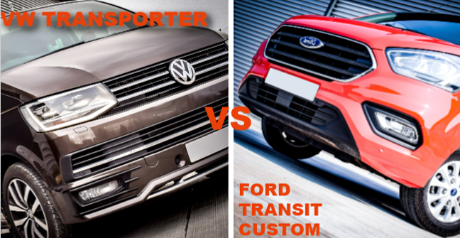 Battle of the Vans: VW Transporter T6 VS Ford Transit Custom