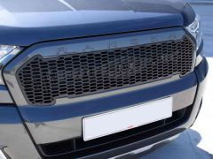 Raptor Style Front Mesh Grille in Black