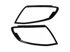 Satin Black Headlight Covers (2pc)