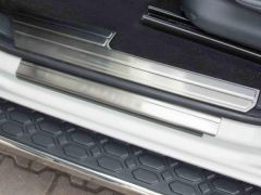 Brushed Chrome Door Sill Covers (4pc)