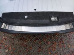 Brushed Chrome Rear Bumper Sill Cover