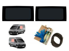 Twin Fixed Side Windows Kit in Dark Tint