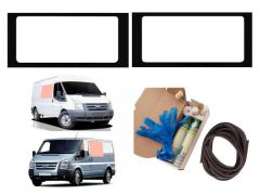 Twin Fixed Clear Windows & Fitting Kit