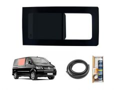 Right Side Panel Dark Tint Opening Window & Fitting Kit
