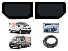 Twin Fixed Dark Tint Windows & Fitting Kit