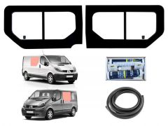 Twin Opening Side Window Kit in Clear