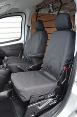 Tailored Front Row Fold Pass. Seat Covers in Black (1+1)