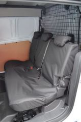 Tailored Rear Row Seat Covers in Black (Double Cab)