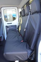 Tailored Rear Bench Seat Covers in Black (Chassis Cab)