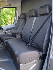 Tailored Front Row Centre Tray Seat Covers Black (1+2)