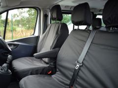 Tailored Front Row Non Fold Pass Seat Covers Black (1+2)