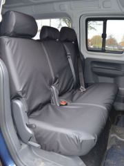 Tailored Double Rear Bench Seat Cover in Black