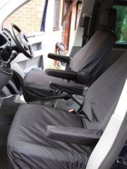 Tailored Front Row w/ Armrests Seat Covers in Black (1+1)