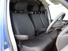 Tailored Front Seat Covers in Black w/Armrests (1+2)