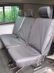 Tailored Rear Bench Seat Covers in Black (1+2)