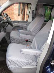 Tailored Front Row w/ Armrests Seat Covers in Grey (1+1)