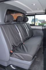 Tailored Rear Bench Seat Covers in Black (Crew Cab)