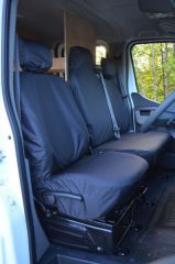 Tailored Front Row Fold Pass. Seat Covers in Black (1+2)