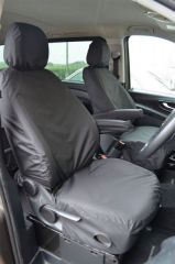 Tailored Front Row w/Armrest Seat Covers in Black (1+1)