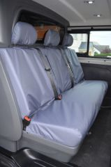 Tailored Rear Bench Seat Covers in Grey (Crew Cab)