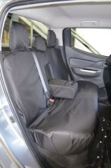 Tailored Rear Bench Seat Covers in Black