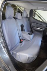 Tailored Rear Bench Seat Covers in Grey