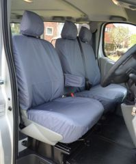 Tailored Front Row w/ Armrests Seat Covers in Grey (1+2)