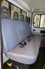 Tailored Rear Bench Seat Covers in Grey (4 Pass.Seat)