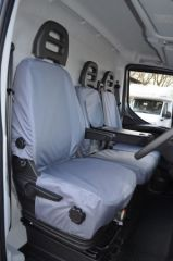 Tailored Front Row w/ Centre Tray Seat Covers Grey (1+2)