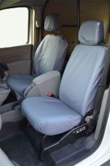 Tailored Front Row Fold Pass. Seat Covers in Grey (1+1)