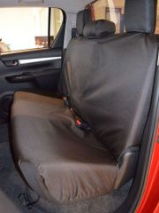 Tailored Triple Rear Bench Seat Cover in Black