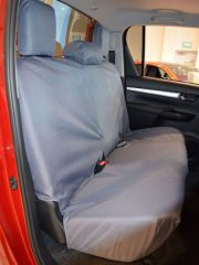 Tailored Triple Rear Bench Seat Cover in Grey