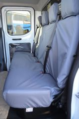 Tailored Rear Bench Seat Covers in Grey (Chassis Cab)